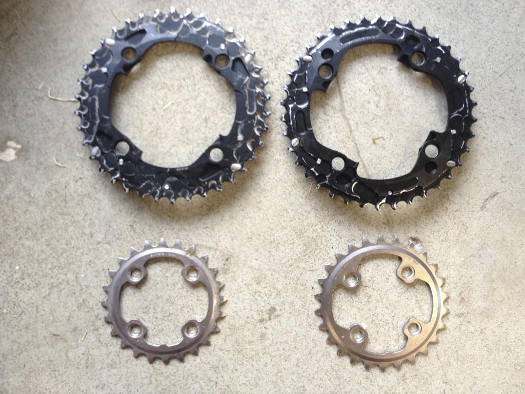 FC-M785 24/38t and 26/38t chainring comparison